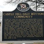 historical marker for Castle Hill-Daly Bottom Community